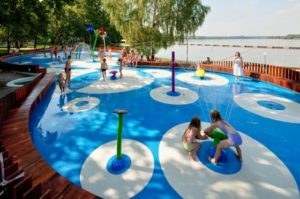 Water speeltuin in Tychy Polen